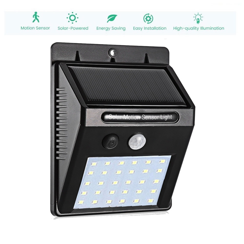 1-4Pcs Solar Light Garden Lamp 30 LED Outdoor Wall Lights Body Induction Motion Sensor Led Super Bright Courtyard Waterproof Sol