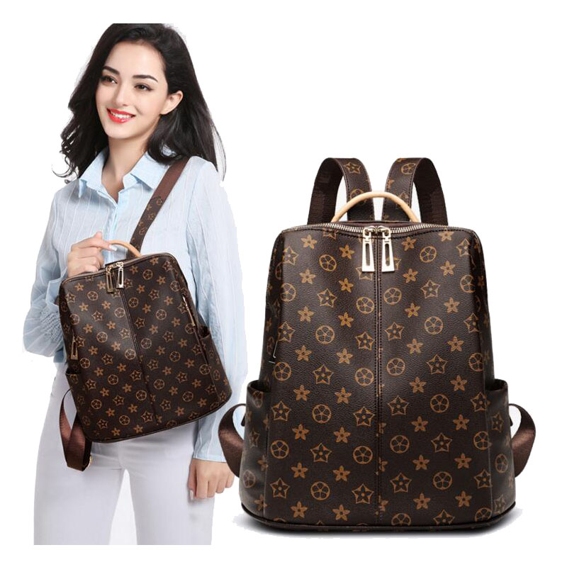 New Korean Ladies Backpack Retro Backpack Baby Bag Mommy PU Leather Diaper Replacement Pregnant Women Bag Storage Bag Diaper Bag
