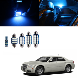 17Pcs Canbus T10 White LED Lights Bulbs Interior Kit Map Dome Trunk License Plate Light Fit for Chrysler 300 300C 300M 2005-2010(China)