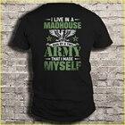 Men t shirt I live i...