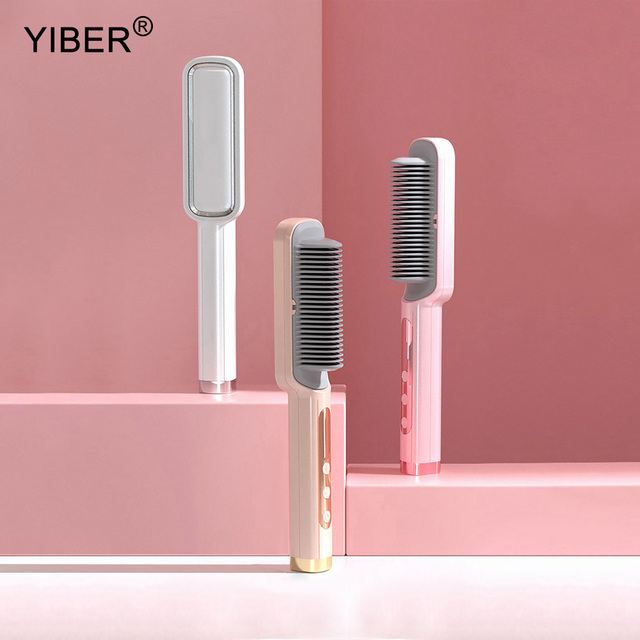 Professional Hot Combs Hair Straightener Anti-scalding Hair Straightening Brush Wet Dry Use Brush Comb Ceramic Hair Curler Tool 1