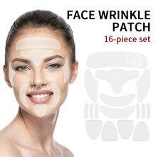 16 pçs reusável invisível fino rosto adesivos rosto linha facial rugas flacidez queixo da pele levantar fita adesiva anti-enrugamento remendo
