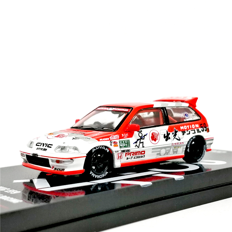 INNO64 1:64 JDM Honda Civic EF9 Idemitsu Motion - Temple Racing Diecast Model Car