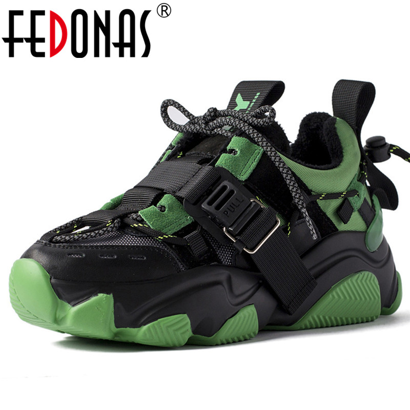 FEDONAS Newest Fashion Mixed Colors Women Genuine Leather Flats Casual Basic Shoes Woman Comfortable Women Big Size Sneakers