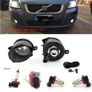 LED fog lights for Volvo S40 V50 2008-2011 halogen light lamps foglights headlights headlight DRL