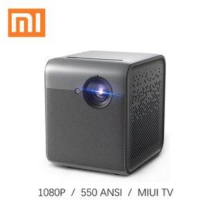 Портативный мини-проектор Xiaomi fengmi Smart Lite DLP, 1080P Full HD 550 ANSI MIUI, светодиодный ТВ-проектор с Wi-Fi, Android 3D видео