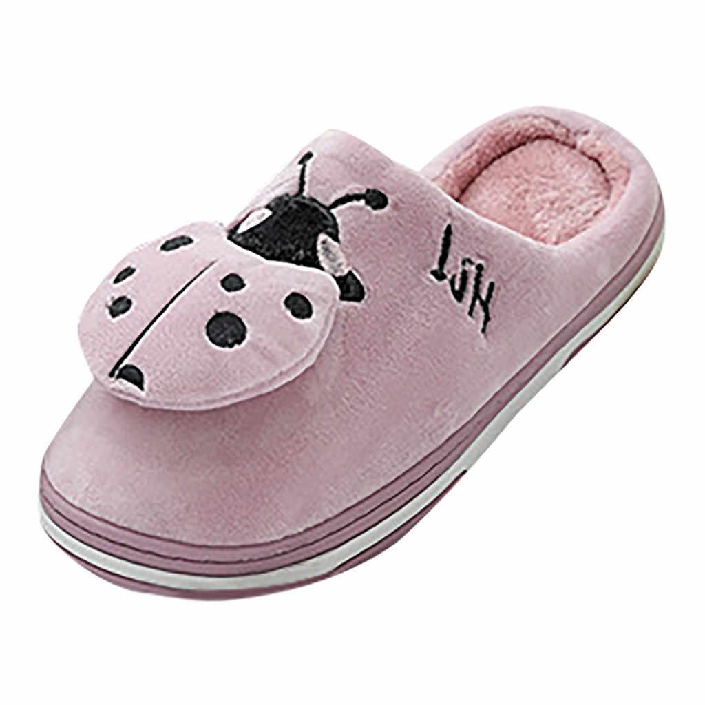 Schoenen vrouw Zachte Pluche Winter Schoenen Big Size Home Slippers Leuke Cartoon Warme Slip Op Indoor Slippers Vrouwen zapatos de mujer