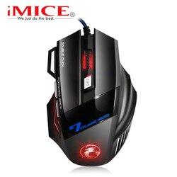 Проводная игровая мышь USB компьютерная мышь геймер X7 эргономичная мышь игровая беззвучная Mause геймер кабель мыши 7 кнопок для ПК игры LOL CS
