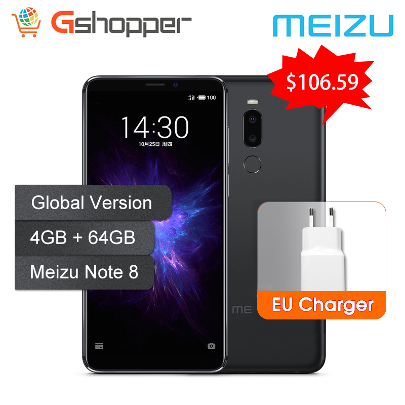 Global Version Meizu Note 8 4GB 64GB Mobile Phone <font><b>Snapdragon</b></font> 632 Octa Core Note8 <font><b>Smartphone</b></font> Full Metal Body Dual Rear Camera image