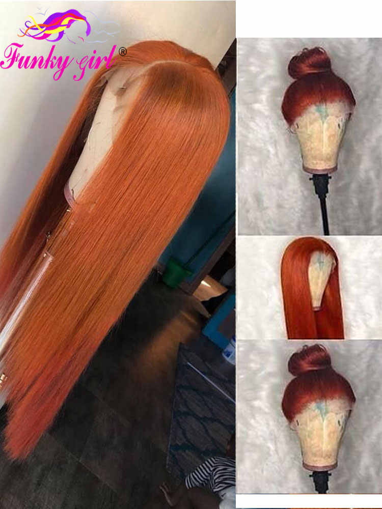 Peruwiański prosto koronki przodu włosów ludzkich peruk 13x4 Remy kolor peruka ludzkich włosów 150% Ombre przednie peruki dla czarnych kobiet T1B/350