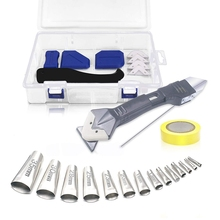 26 Pcs Caulking Tool, Caulking Nozzle Applicator Finishing Tool, 6 in 1 Caulking Tool Kit Silicone Caulking Removal Tool