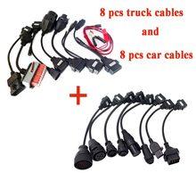 Полный комплект автомобильных кабелей и кабелей для грузовиков автомобильные кабели 8 шт. для vd ds150e cdp pro plus для delicht автомобильный Грузовик ...