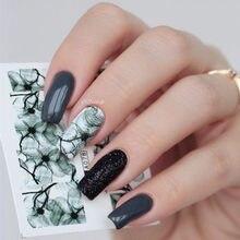 Pegatinas de agua para uñas Nail Art, 1 hoja de 7x6,5 cm, tobogán acuático, pegatinas deslizantes de papel para uñas