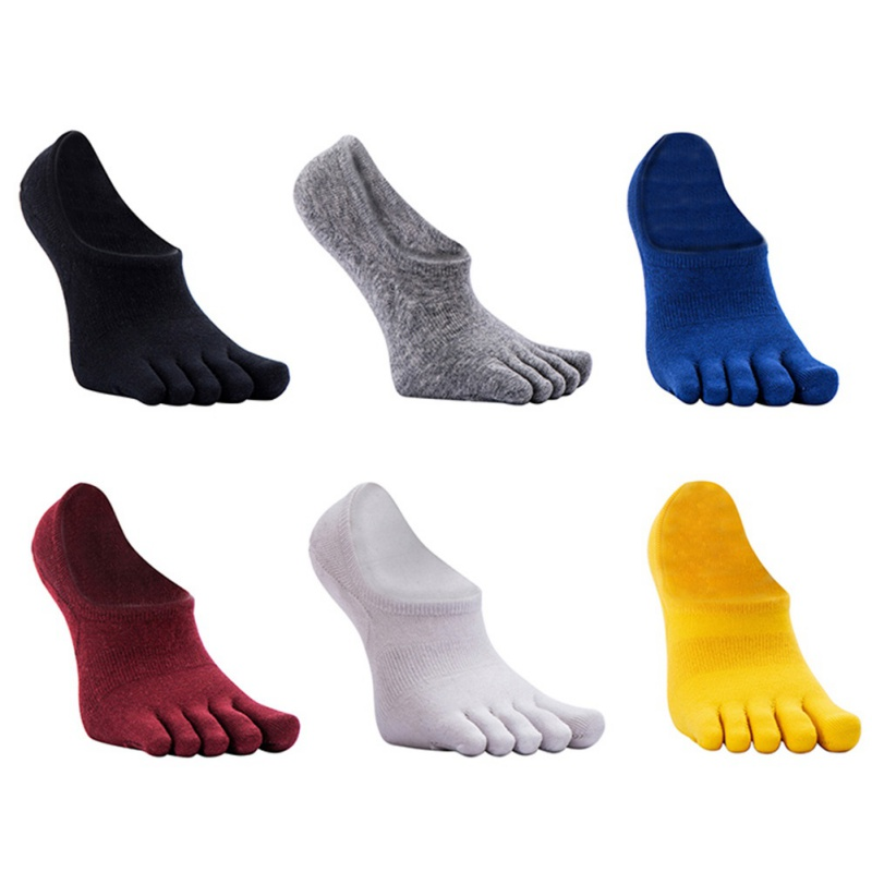 6 Color Available Men's Absorb Five Toe Sport Socks Sweat Leisure Five Toe Socks Invisible Ankle Toe Socks Y8