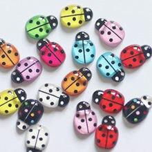 30 pçs resina joaninha bonito colorido bonito animal liso volta diy scrapbook artesanato decoração