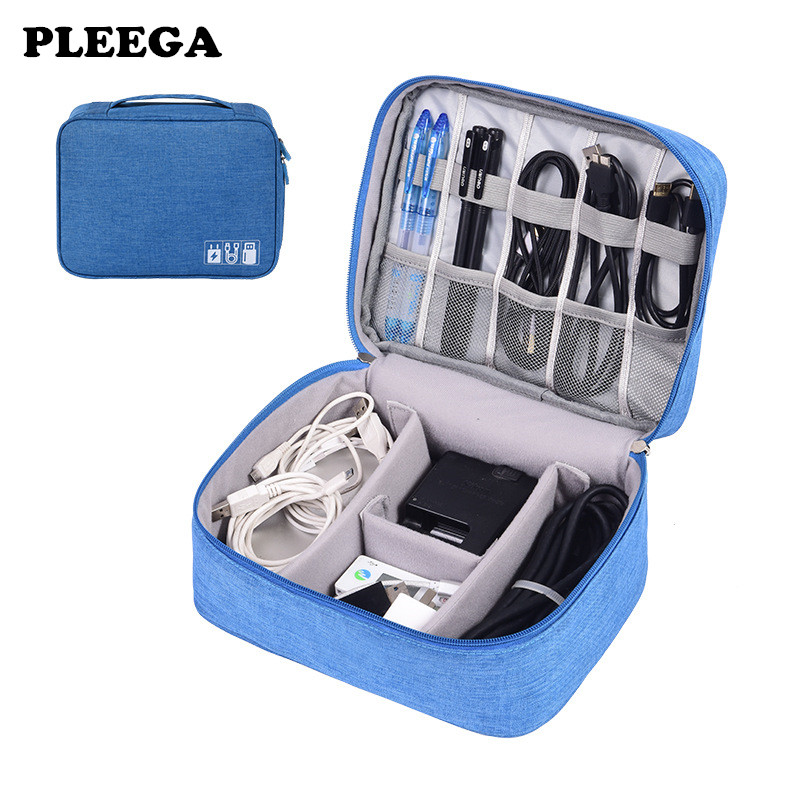 Travel Storage Bag Kit Data Cable U Disk Power Bank Electronic Accessories Digital Gadget Devices Divider Organizer Containers