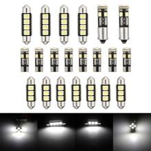 21pcs/set 12v LED Interior Light Dome Map Car Lamp Kit for BMW E46 Sedan M3 1999 2005 License Plate Light led light bulbs