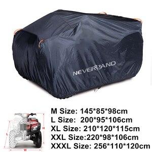 Image 4 - 190T مقاوم للماء المطر برهان الغبار المضادة للأشعة فوق البنفسجية الشاطئ دراجة رباعية ATV حافظة لدراجة نارية بولاريس يغطي م L XL XXL XXXL D20