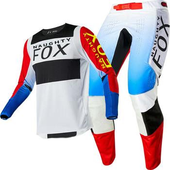 Darmowa wysyłka 2020 NAUGHTY FOX MX ATV wyścigi 360 Bann granatowy Jersey spodnie Motocross Dirtbike Offroad wyścigi Sx Mx zestaw narzędzi męskich tanie i dobre opinie fastrider Motocross Combos 100 poliester Unisex Kombinacje