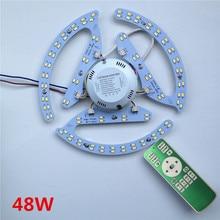 새로운 48W 64W 80W AC180 265V 라운드 마그네틱 LED 천장 조명 LED 보드 패널 원형 튜브 조명 2.4g 원격 제어 메모리
