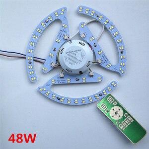 Image 1 - Yeni 48W 64W 80W AC180 265V yuvarlak manyetik LED tavan ışık LED kurulu paneli dairesel tüp ışıklar ile 2.4g uzaktan kumanda bellek