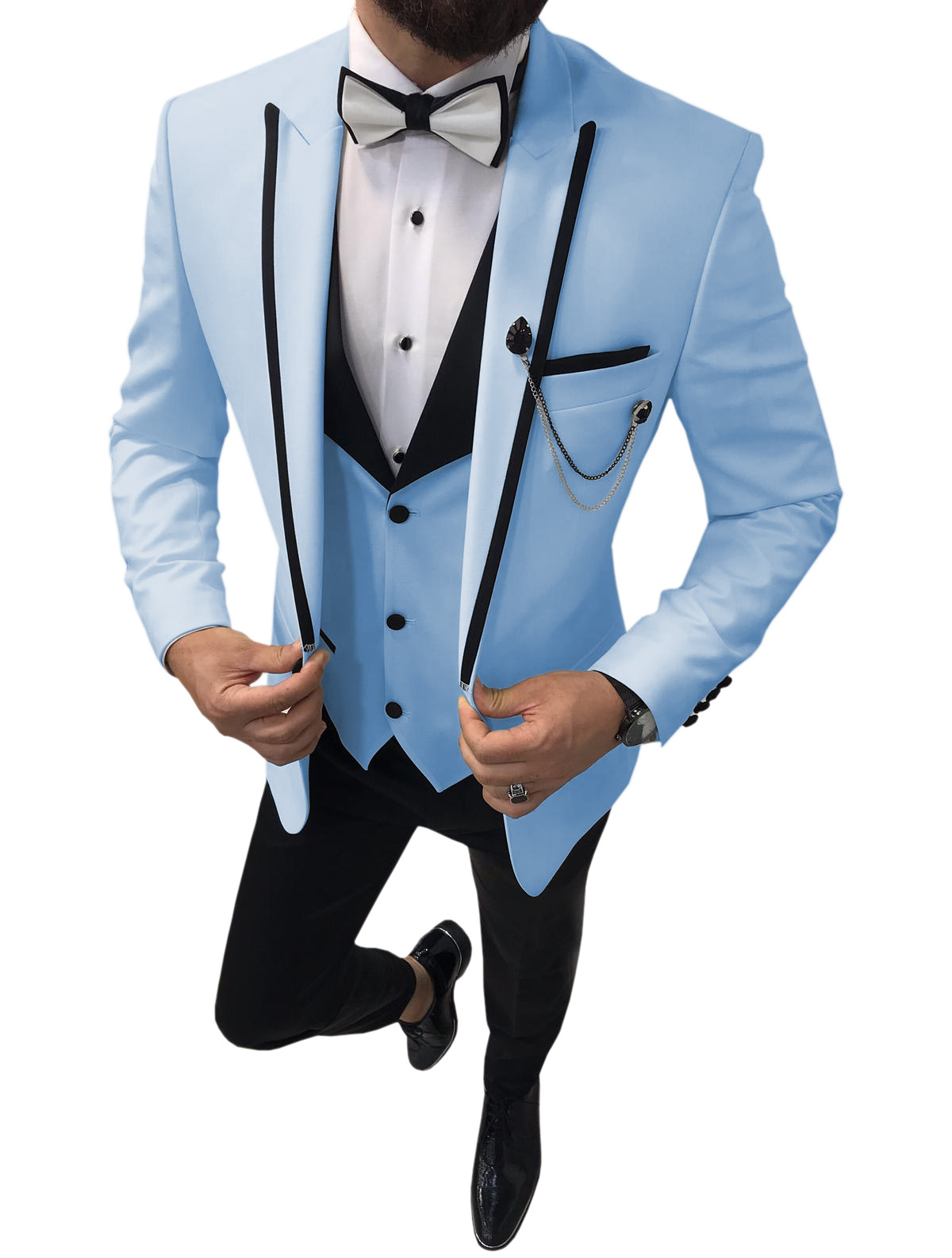 Men's tuxedo suit in a slim fit perfect for groomsmen msow