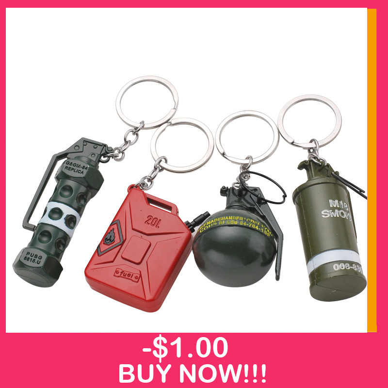 New Game PUBG Keychain Heavy Weapon Pendant Metal Key Chain llaveros Souvenir Chaveiro CS GO Key Chain Women Men Jewelry