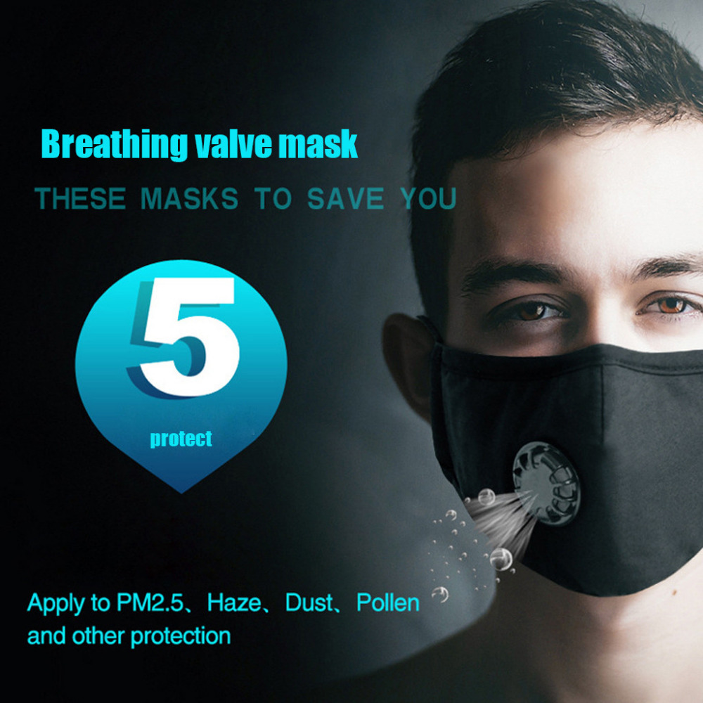 1PC Anti Dustproof Cotton Facial Mouth Face Mask Washable Masks Adjustable Straps Particulate Respirator Protective Cover Masks