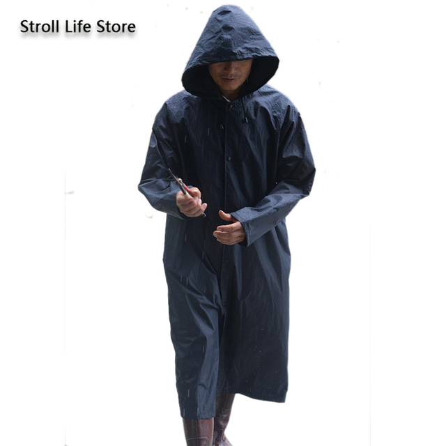 Work Outdoors Long Raincoat Body Large Rain Poncho Men and Women blue Jacket Waterproof Suit for Fishing Gabardina Hombre Gift 2