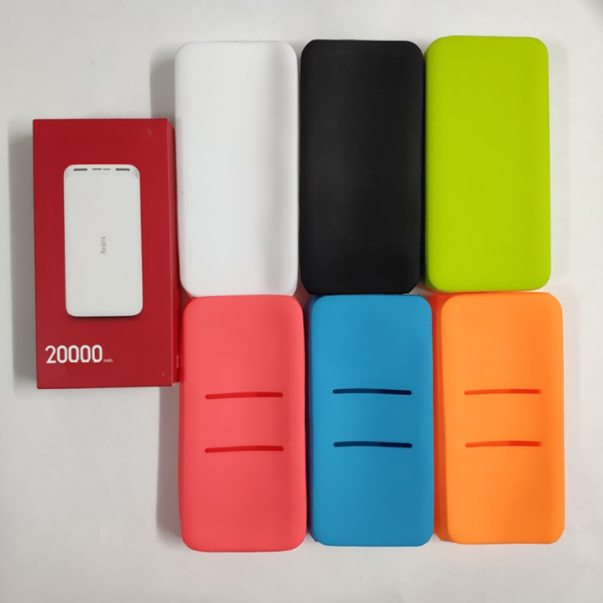 Anti-drop Silicone Protective Case Cover For Redmi 20000mAh Power Bank Protection Cover Phones Power Bank  Accessories