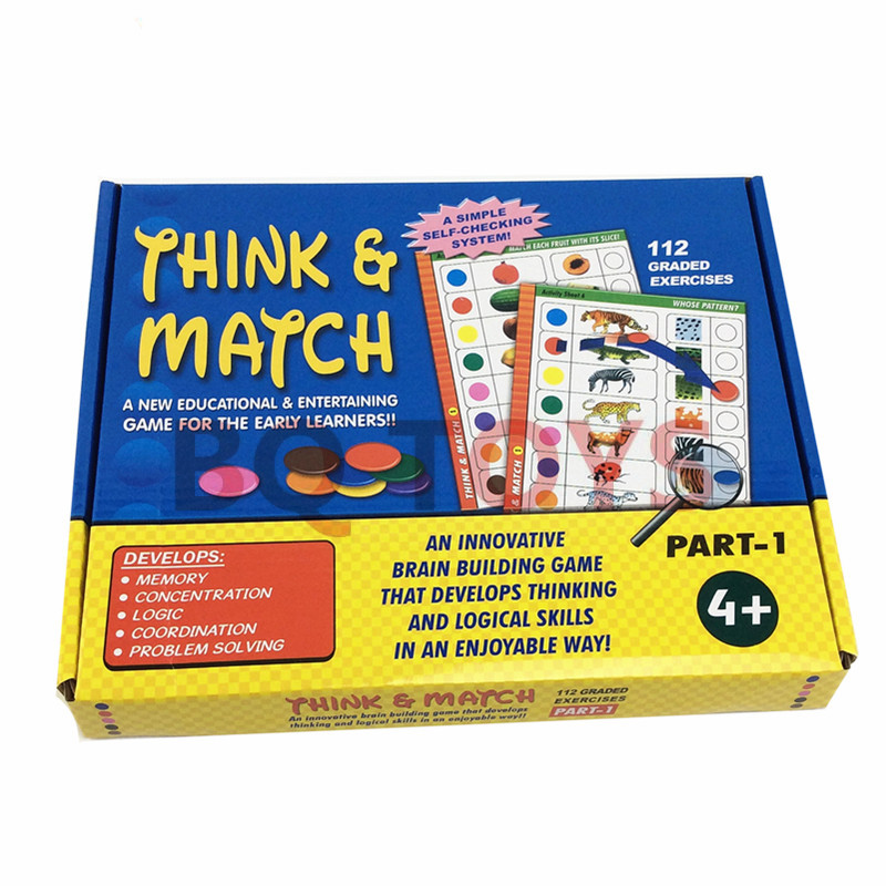 Think And MATCH GAME Early Education Puzzle Children's Logic Thinking Game Pattern Modeling Animal Word Pair To See Toys