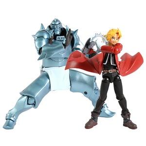 Image 1 - Revoltech Yamaguchi 116 Fullmetal Alchemist Edward Elric / 117 Альфонс Элрик ПВХ фигурка Коллекционная модель игрушки