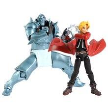 Revoltech Yamaguchi 116 Fullmetal Alchemist edward elric/117 alphonse elric PVC figurka model kolekcjonerski zabawka