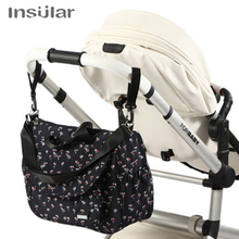 Insular Baby Mummy Maternity Diaper Bag Large Capacity Nappy Stroller Bag Waterproof Mommy Travel Changing Bag Nursing Tote Bags цена и фото