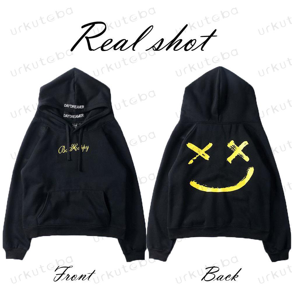 H1fe58a38af894fcdaa9098efc626d9f8U Hot Sale Fashion Plus Size 3XL Hip Hop Street Wear Men Hooded Hoodies Smile Print Sweatshirts Tops Hoodie Clothes