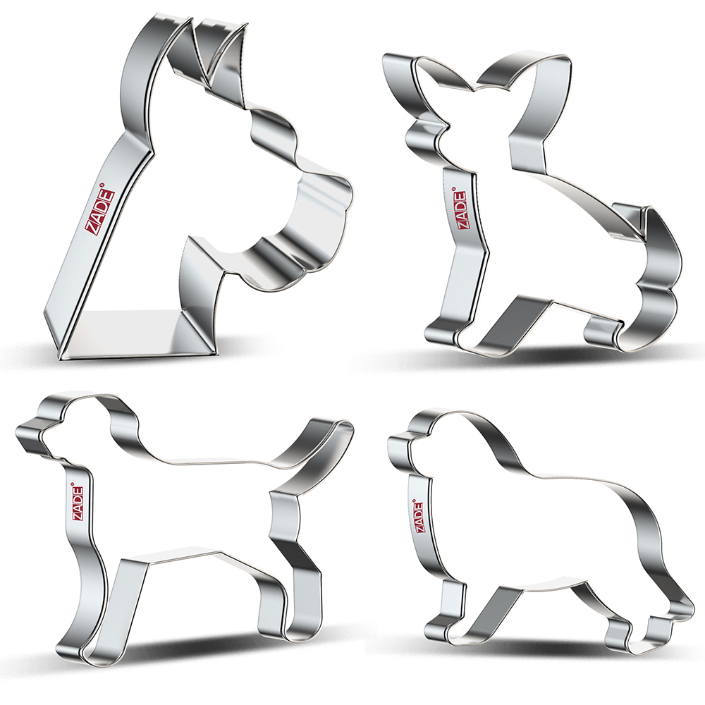 ZADE  Dog / Puppy Cookie Cutter For Homemade Dog Biscuits Treats Biscuit And Fondant Cutter - Stainless Steel