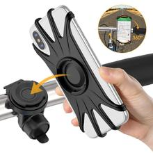 Universal Motorcycle Mobile Phone Holder Bike Handlebar Stand Bracket Bicycle Phone Holder for IPhone 7 XS Max Samsung Xiaomi 9 universal mini smart phone holder stand base for iphone 7 x xs max for xiaomi for oneplus candy color mobile phone bracket
