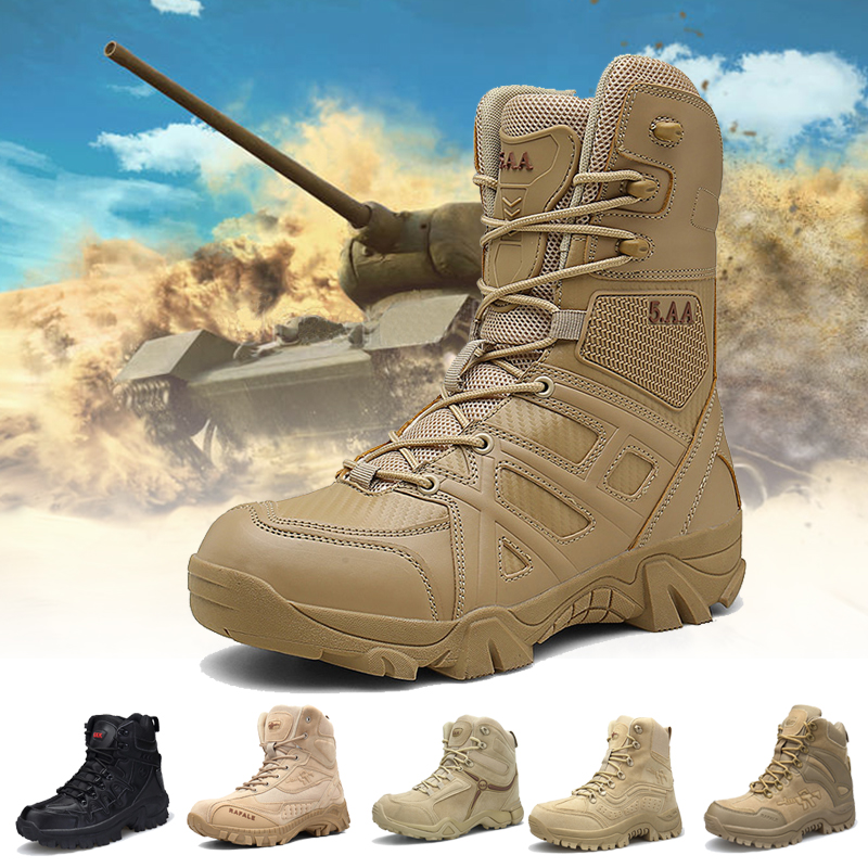 Desert Boots Men Tactical Boot Men Outdoor Sports Camping Military Shoes Men Climbing Mountain Boots Hiking Army Shoes 39-46