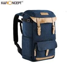 K & f conceito de grande capacidade multi funcional à prova dwaterproof água câmera mochila saco de viagem com peito cinto hold slr tripé