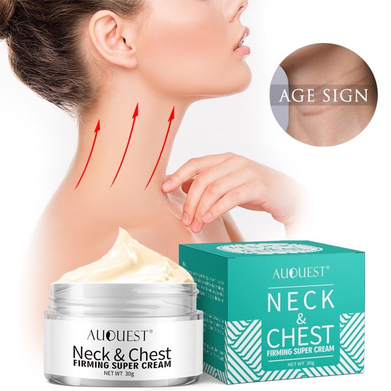 AuQuest Firming Neck Cream Chest Anti-aging Wrinkle Cream Firming Sagging Crepe Dry Skin Moisturizer Neck Skin Repair Care
