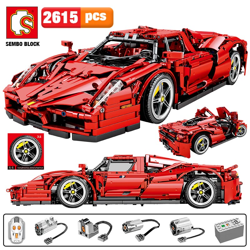 2615pcs MOC City Remote Control Sports Car Building Blocks for Legoing Technic RC Racing Car Model Creator Bricks Toys for Boys 1