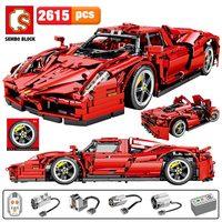 SEMBO 2615pcs MOC City Remote Control Sports Car Building Blocks Technic RC Racing Car Model Creator Bricks Toys for Boys
