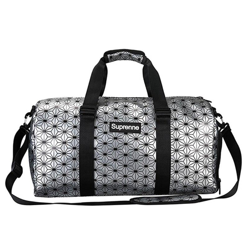 PU Waterproof Travel Bag Large Capacity Weekend Bag Unisex Hand Luggage Packing Cubes Duffle Bag Shoe Space Luggage Sac Voyage