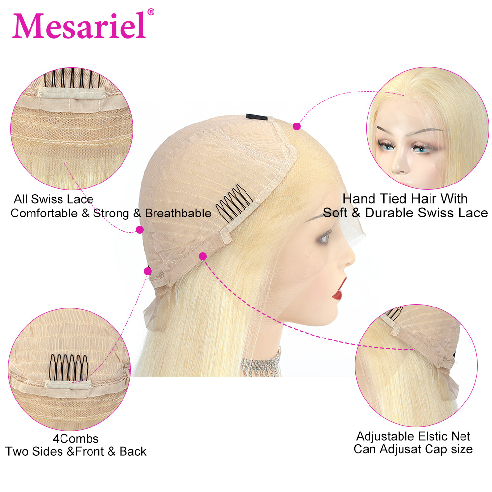 13x6 straight blonde lace front wig human hair (17)