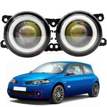 2 uds accesorios de coche H11 Luz de niebla LED Ojo de Ángel DRL luz corriente diurna 12V para Renault Megane 2 II Salón LM0 LM1 2003 2015