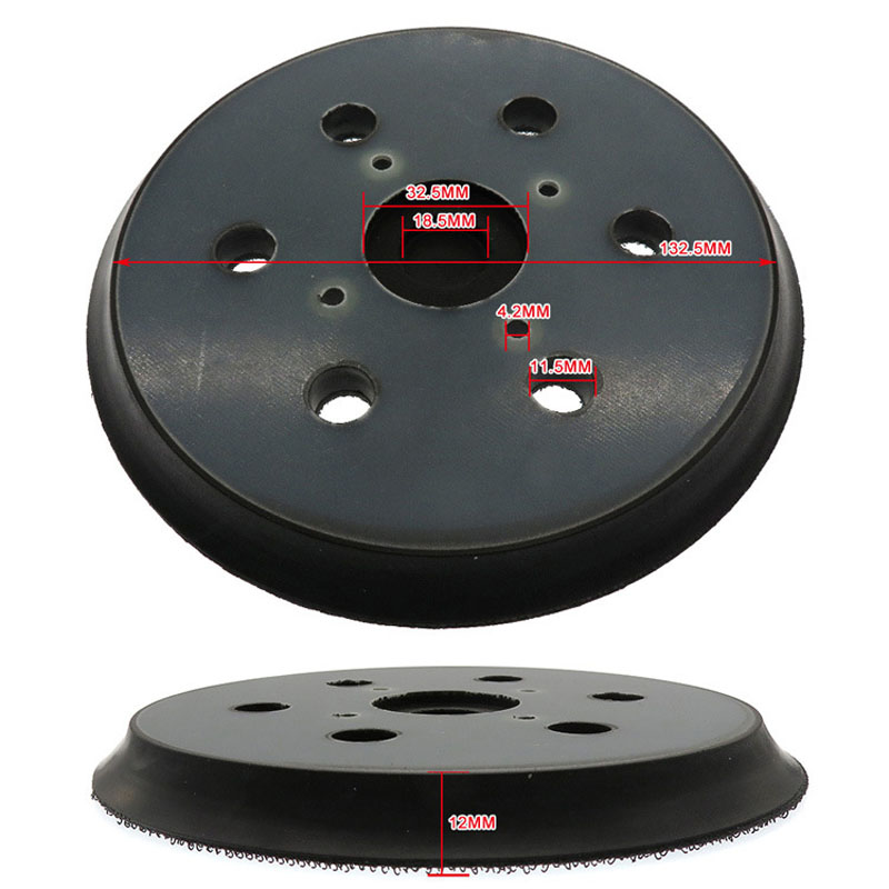 2Pcs 6 Inch 6 Holes Sanding Pad Random Orbit Sander Backing Pads Backup Disc 6 Inches/150mm Sanding Pads For Polish Machine