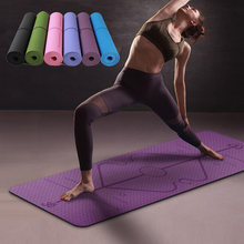 Коврик для йоги из ТПЭ 1830*610*6 мм коврик фитнеса с линией