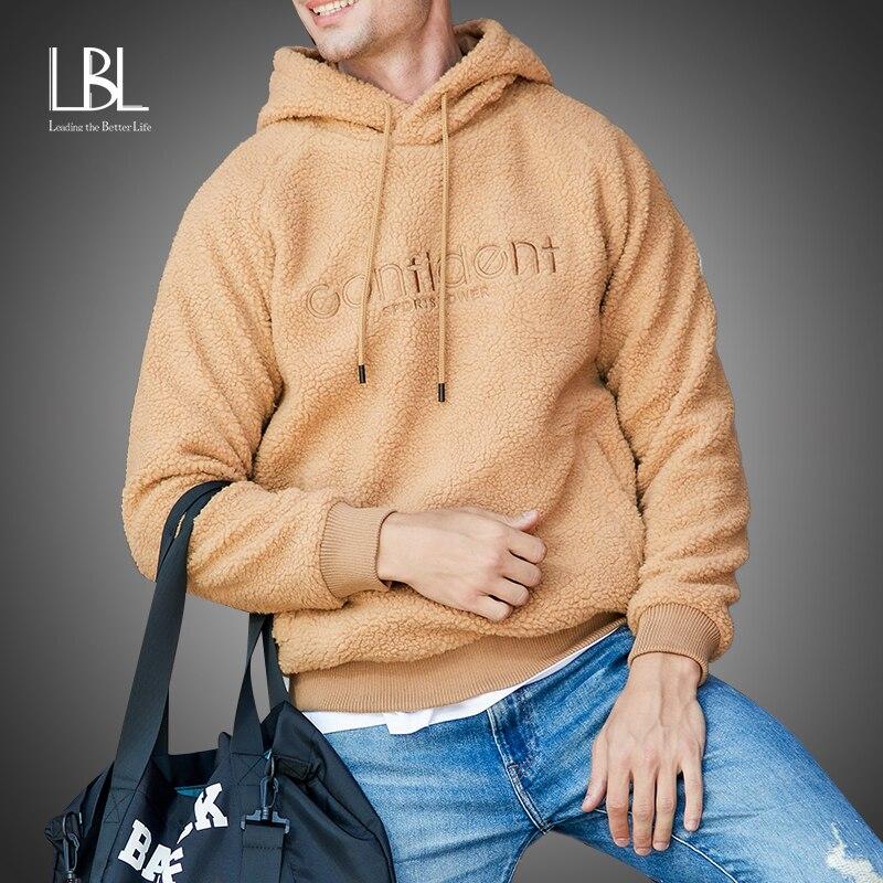 LBL New Thick Hoodies Cardigans Jacket Men 2020 Winter Outerwear Hooded Sweatshirts Brand Streetwear Warm Fleece Hoody moletom