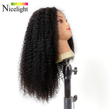 Malaysian Curly Wig 13X4 Closure Wigs Kinky Curly Lace Frontal Wig Lacefront Human Hair Wigs Nicelight Remy Hair 8-24Inch(China)