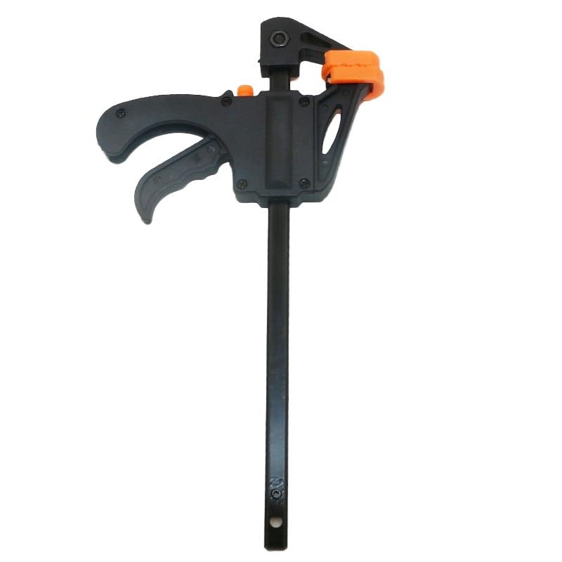 "Купить с кэшбэком 4"" Inch F Woodworking Clamp Clamping Device Adjustable DIY Carpentry Gadgets quick Ratchet Release Speed Squeeze hand tools"